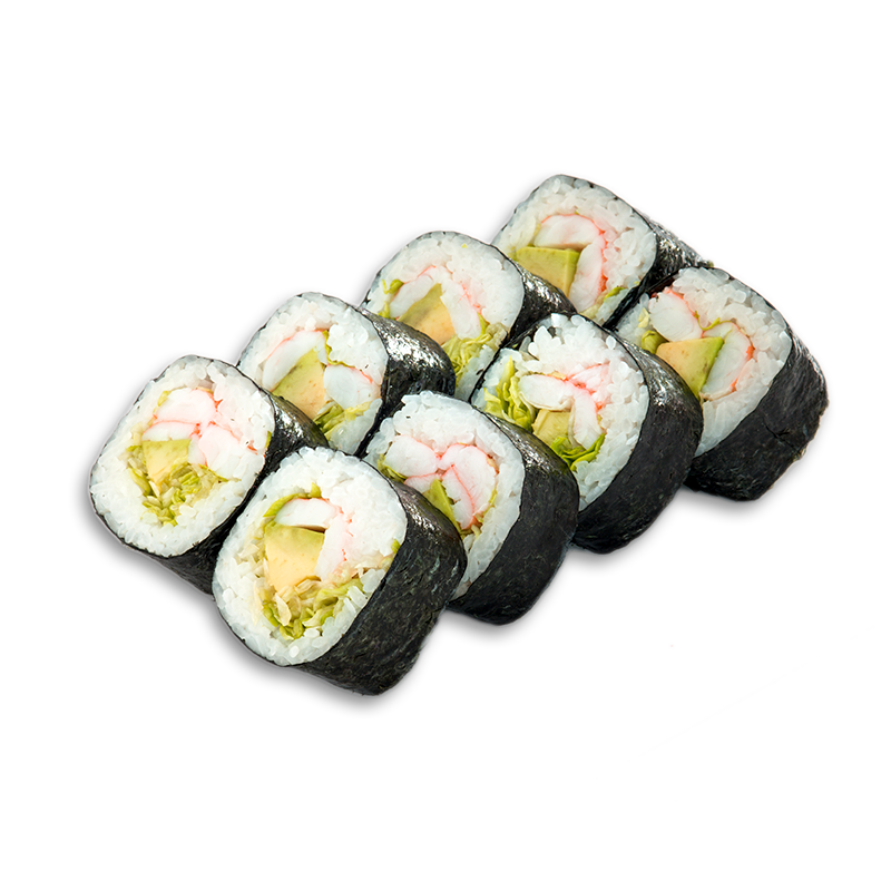 SHRIMP AND AVOCADO MAKI