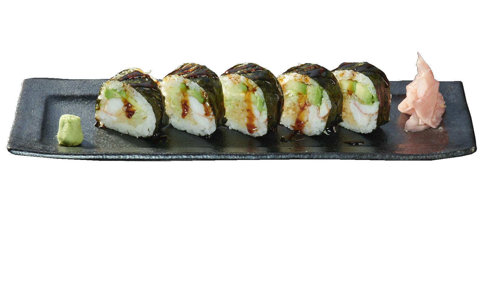Shrimp and Avocado Tanuki